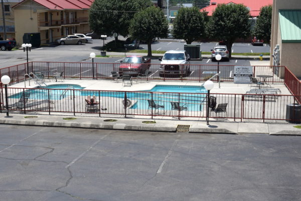 Swimming pool at River Place Inn in Pigeon Forge Tn