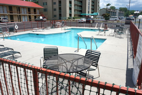 Outdoor swimming pool for guests of River Place Inn