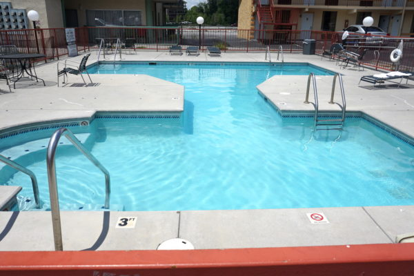 Swimming pool at Pigeon Forge hotel River Place Inn